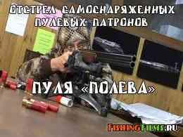 Отстрел самоснаряженных пулевых патронов. Пуля «Полева»